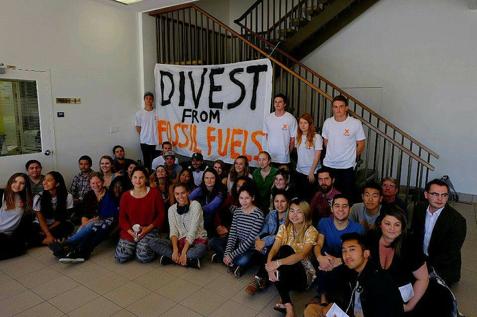 After a three-day sit-in, UC Santa Barbara students convince Chancellor Henry Yang to advocate for UC divestment from fossil fuels.
