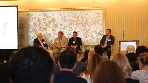 Panel discussion in Beverly Hills, moderated by Kevin McGovern.