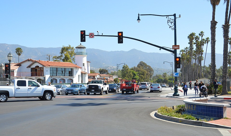 The city opened all lanes at Cabrillo and State today, under construction since 2014.