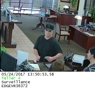 Union Bank in Carpinteria was robbed May 24, the second bank to be hit in the city in as many months. Sheriff's deputies are searching for this suspect.