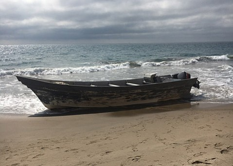 A similar panga boat was discovered near Mariposa Reina in October of last year.