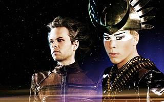 Empire of the Sun's Nick Littlemore (left) and Luke Steele