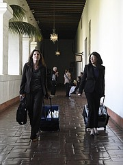 Leading the charge for Pierre Haobsh's defense is Christine Voss (left), regarded as one of the county's most formidable criminal attorneys, and Mindi Boulet, both with the Public Defender's Office.