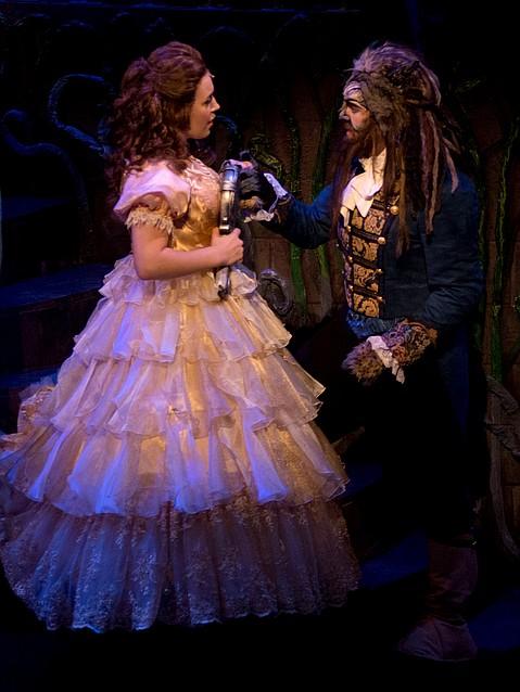 McAnnali Fuchs as Belle and Matt Koenig as Beast