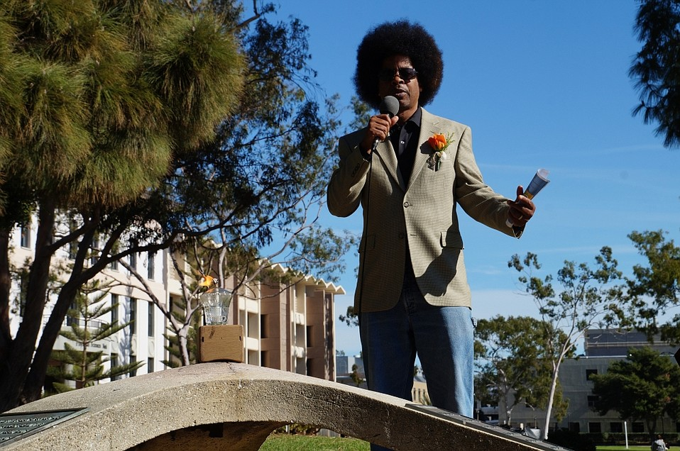 David Moore speaks at UCSB ahead of the 2016 Martin Luther King, Jr. holiday