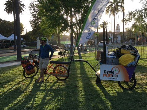 Kent Epperson and the Traffic Solutions cargo bike haul hundreds of pounds of stuff around Santa Barbara.