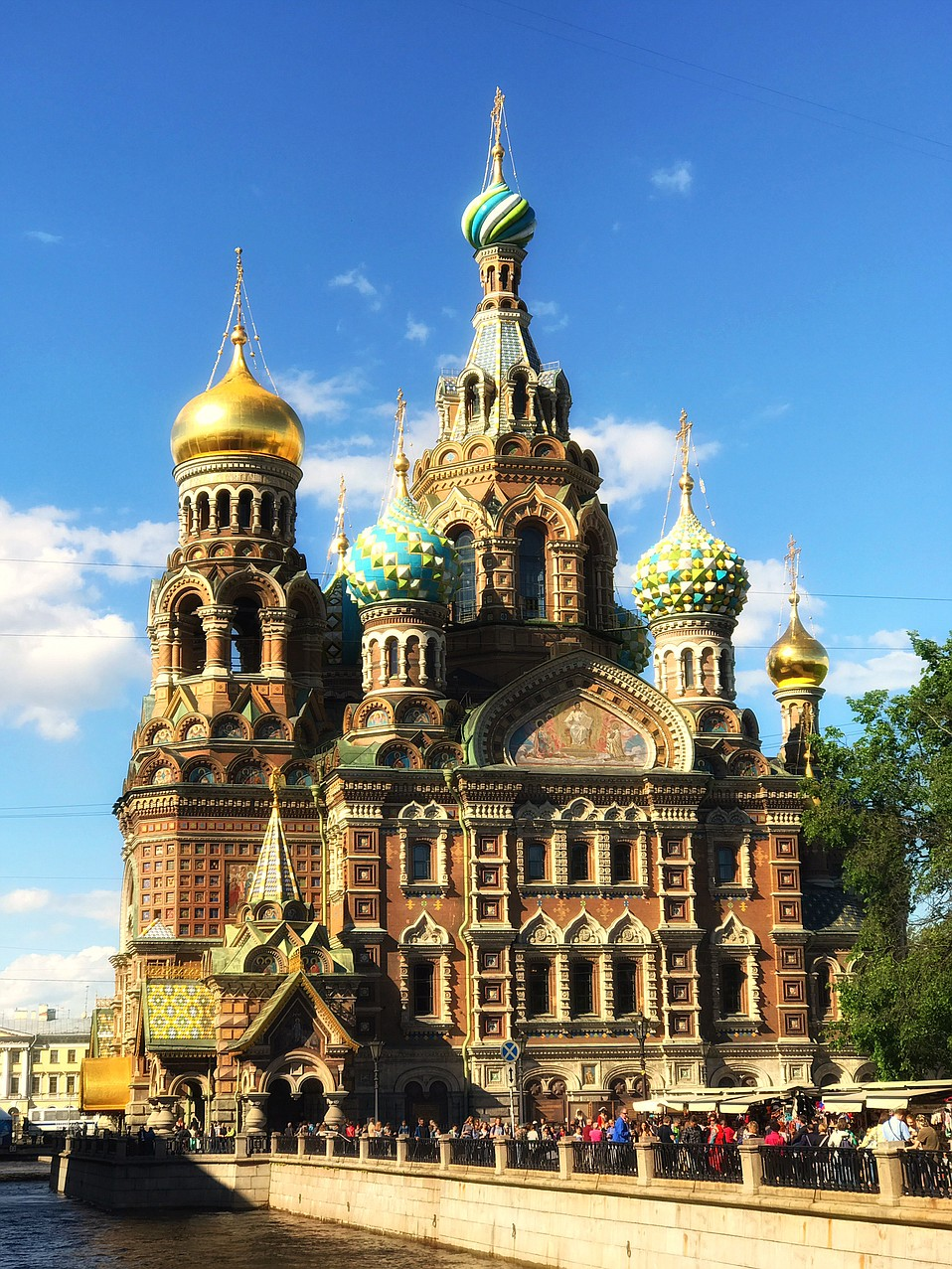 """The """"five-domed dazzler,"""" as <em>Lonely Planet</em> puts it, was built on the spot where Tsar Alexander II was assassinated in 1881."""