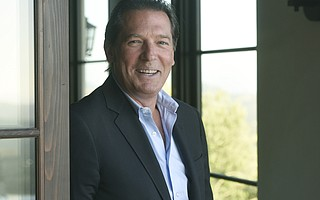 Eric G. Phillips at his Montecito home.