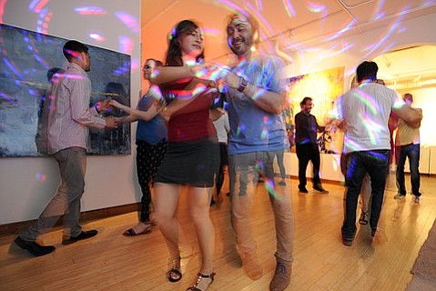 Dancers revel in Yes Dance!'s old space in the Funk Zone.