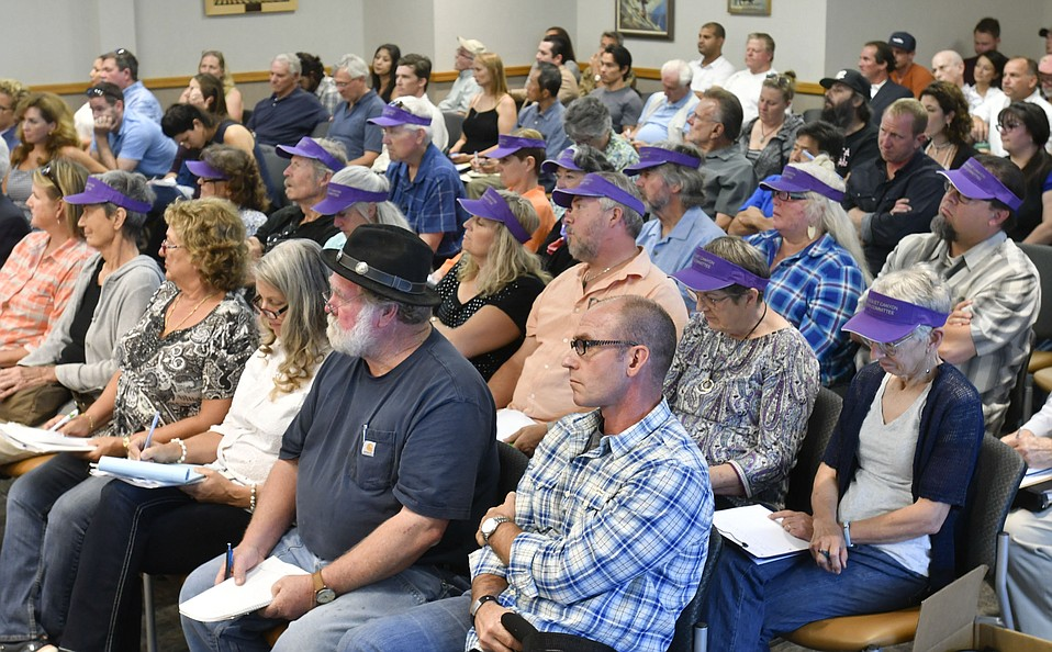 The room was packed to overflow as the county's cannabis task force heard from those in the nascent pot industry who extolled its advantages and some North County residents who complained that pot cultivators make for bad neighbors.