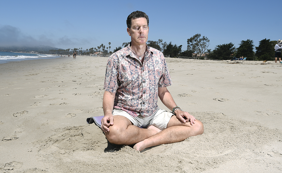 Tom G. O'Brien picked the beach as a location for its relaxing energy.