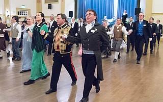 The Santa Barbara Country Dance Society's 2016 Winter Dreams EnglishCountryBall in the Carrillo Ballroom