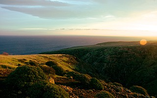 The eastern edge of Santa Cruz Island, Channel Islands National Park.