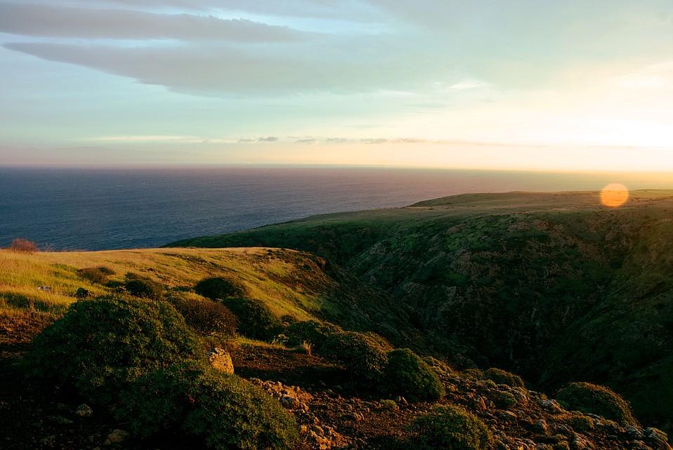 The eastern edge of Santa Cruz Island, Channel Islands National Park.