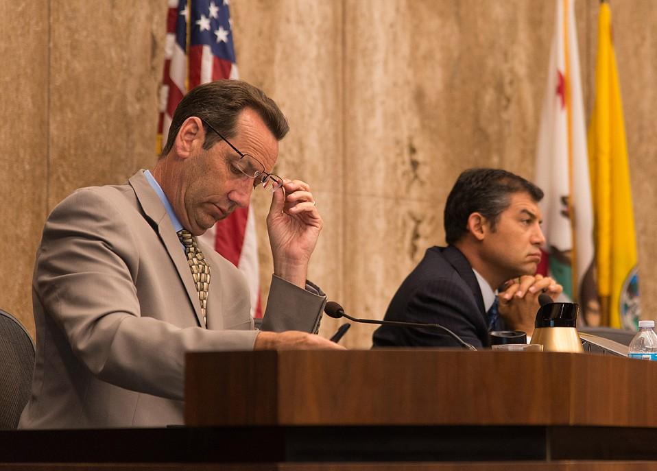 Santa Barbara County supervisors Steve Lavagnino (left) and Das Williams head the county's effort to draft a cannabis ordinance.