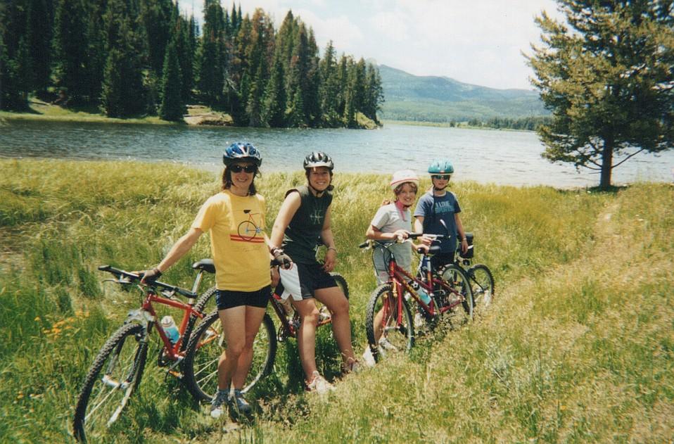 The Williams family on a bike trek