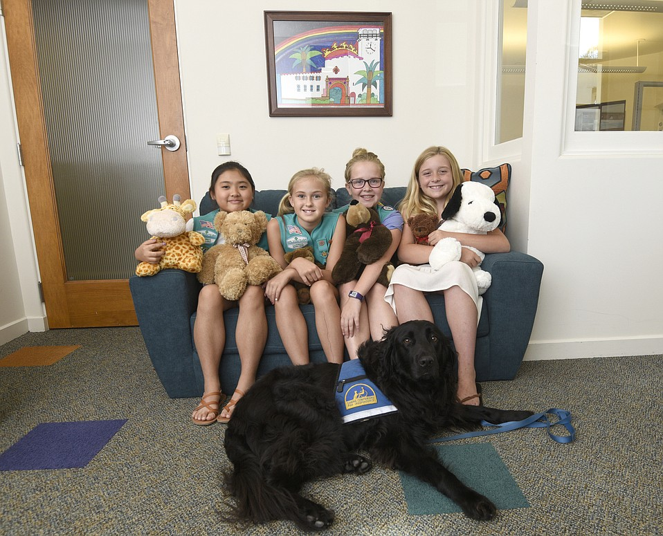 From left: Girl Scouts Lorraina Uyeno, Emma Gorman, Hannah Henderson, and Reagan Rauchhaus