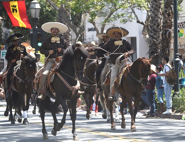 The blocked Castillo Street underpass will send Fiesta riders, horses, and floats back home along Garden Street, and the public is asked to avoid the area until they return to Pershing Park.