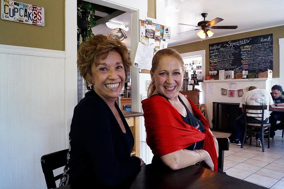 from left: Rose Marie Cruz and Linda Vega