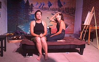 Lindsey Twigg (right) and Danielle Draper in <em>peanutbutterjellybagelcreamcheese</em>