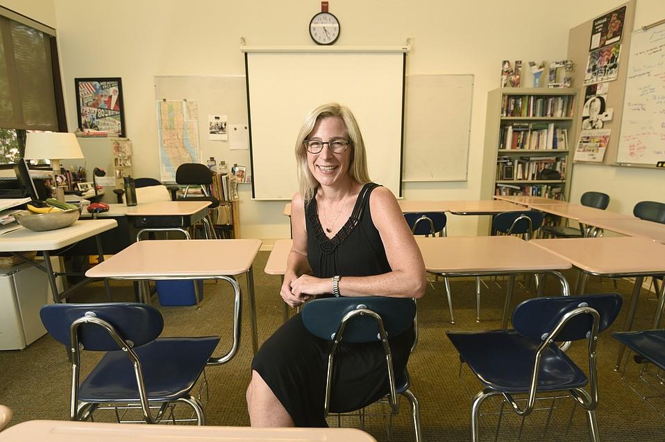 Ashely Tidey in her Laguna Blanca classroom