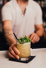 Sean Sepulveda sharing his cocktail creations for Santo Mezcal