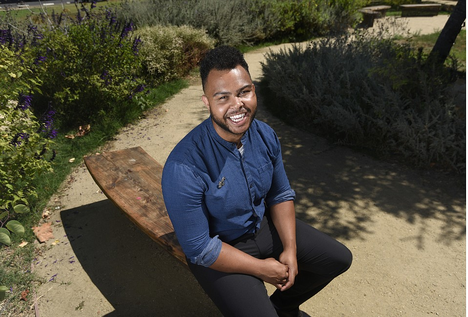 Jordan Killebrew, founder of Project I.V. Love and  responsible for the Love and Remembrance Garden honoring the students killed in the 2014 shootings in Isla Vista