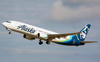 Alaska Air Boeing 737 now flies out of SBA to Seattle.