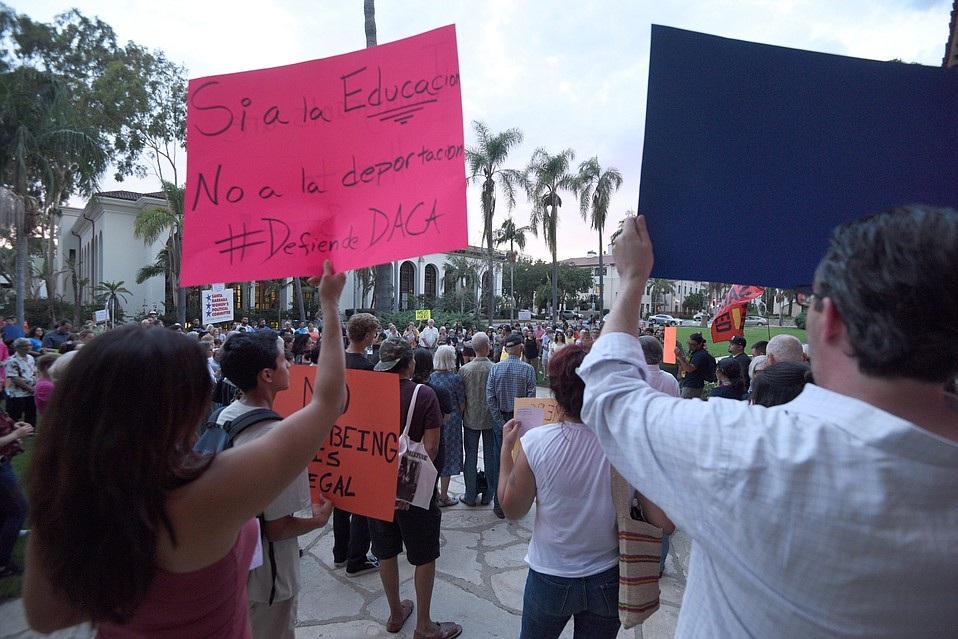Last Friday evening, ahead of President Trump's decision to end DACA (Deferred Action for Childhood Arrivals), hundreds gathered at the Santa Barbara Courthouse to fight for the county's 4,800 Dreamers.