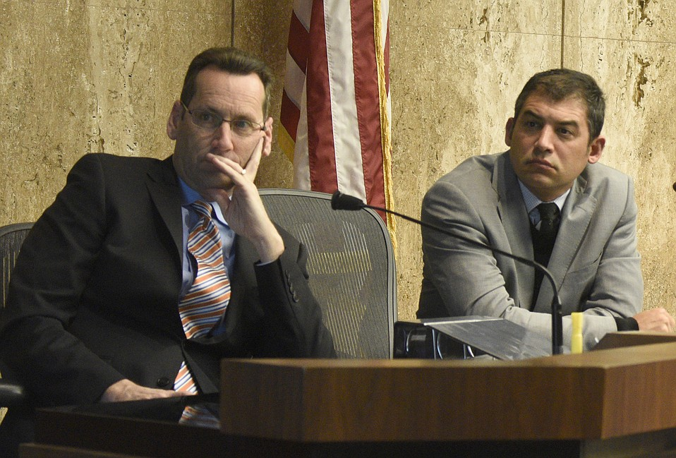 County Supervisors Steve Lavagnino (left) and Das Williams