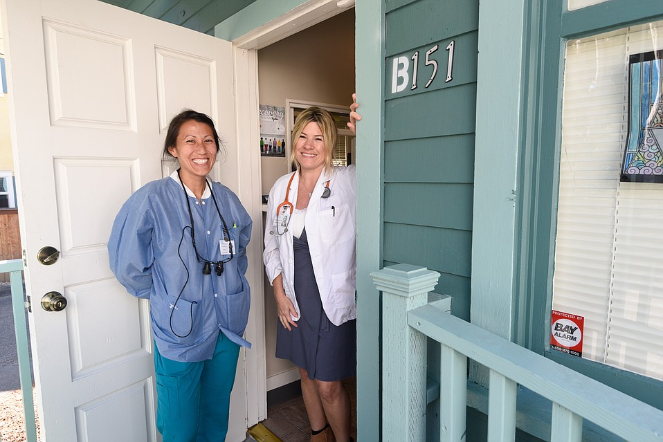 Dr. Ann Lee (left) and Nurse Practitioner Suzanne Kenedy stand at the new Integrated Care Clinic in downtown S.B.