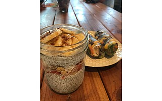 Honey B's Chia Pudding and Little Monsters Spring Rolls