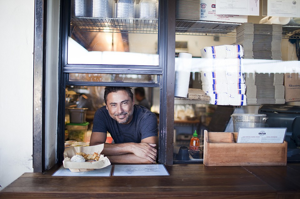 Michael Anderson of East Beach Tacos, one of our Foodie Award winners for 2017