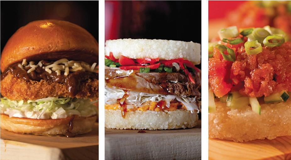 Katsu Curry, Pork Chashu, and Spicy Tuna
