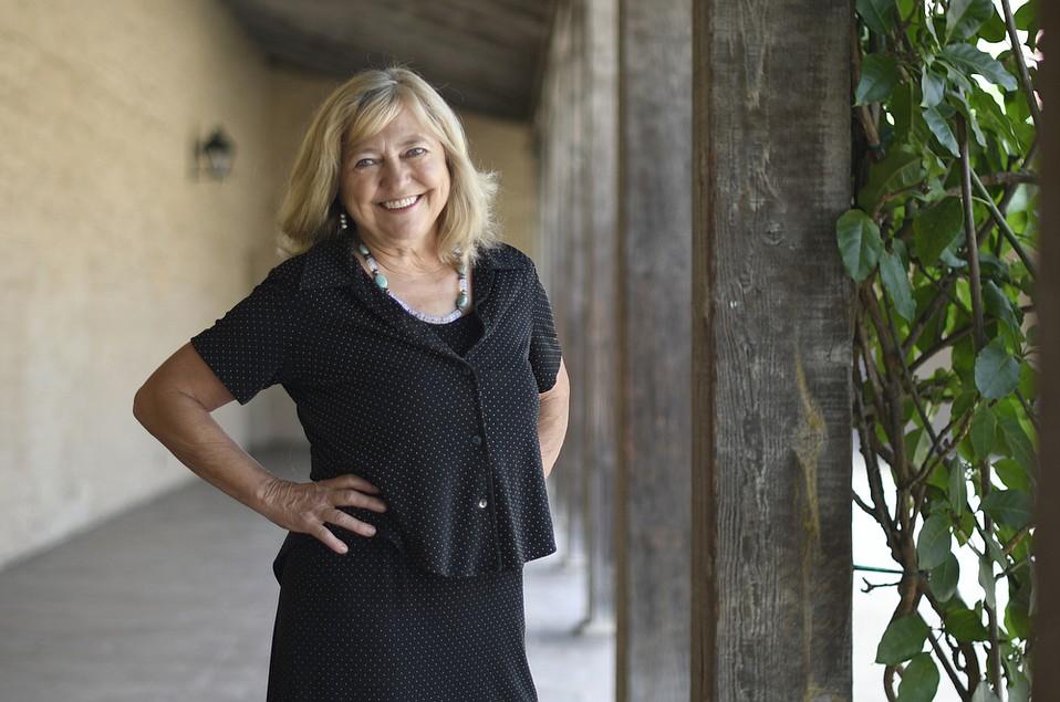 Lynn Brittner at the Santa Barbara Historical Museum
