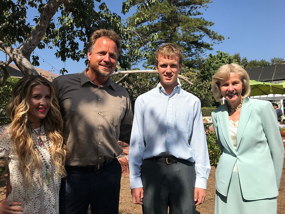 Lois Capps (right) and son Todd Capps (second from left, standing between wife Rebecca Capps and his son, Aden) have formed the Lois and Walter Capps Project to foster civil dialogue amid a bitter national climate.