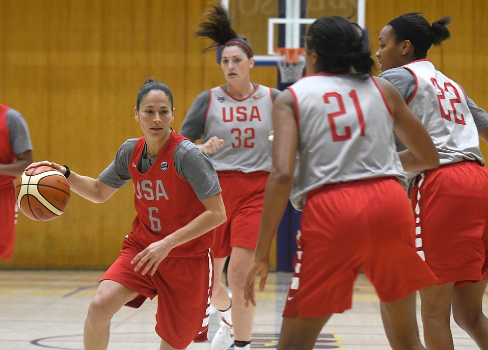 Sue Bird (6) made her Olympic debut in 2004 and could win her fifth gold medal in 2020.
